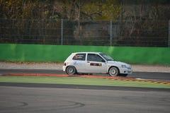 雷诺Clio威廉斯集会汽车在蒙扎 免版税库存图片
