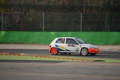 雷诺Clio威廉斯集会汽车在蒙扎 库存图片
