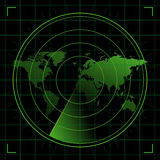 雷达世界 免版税库存图片