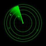 雷达传染媒介例证 免版税库存照片