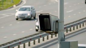 雷达在路的速度控制照相机 关闭 影视素材