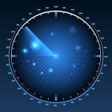 雷达显示器传染媒介 皇族释放例证