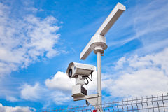 雷达监视系统 免版税库存照片