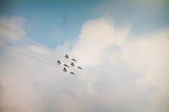 雷鸟飞行表演 库存图片