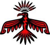 雷鸟-美国本地人标志 库存图片