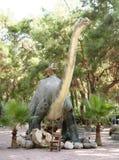 雷龙属侏罗纪期间/140百万年前 在声浪 库存照片