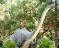 雷龙属侏罗纪期间/140百万年前 在迪诺 免版税库存照片