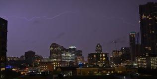 雷暴在奥斯汀得克萨斯 免版税库存图片