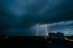 雷暴在米斯克 免版税库存图片