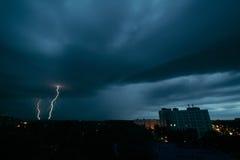 雷暴在米斯克 图库摄影