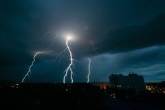 雷暴在米斯克 免版税库存照片