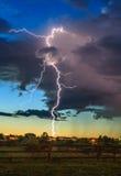 雷击在邻里 库存图片