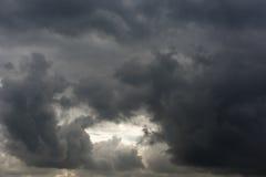 雷暴天空 库存图片