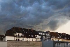 雷暴-比勒费尔德-德国2014年 图库摄影