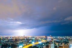 雷暴闪电 库存图片