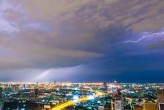 雷暴闪电 库存照片