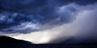雷暴,蒂瓦特,黑山 库存照片