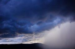雷暴,蒂瓦特,黑山 免版税库存图片