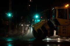 雾例证晚上街道向量 库存图片