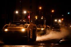 雾例证晚上街道向量 免版税图库摄影