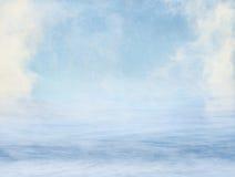 雾和海运 免版税库存图片