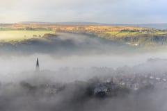 雾在哈利法克斯 免版税库存照片