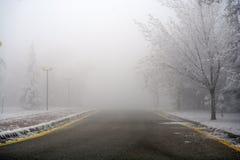 雾在城市 库存图片