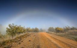 雾弓自然现象在澳洲内地澳大利亚 免版税图库摄影