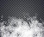 雾或烟 在透明背景的例证 库存例证