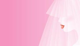 雾浊的新娘 免版税库存照片