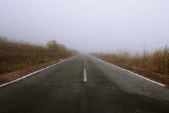 雾海岛 免版税库存照片