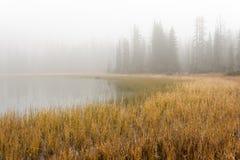 雾的残酷的湖 图库摄影