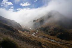 雾的河 免版税库存照片