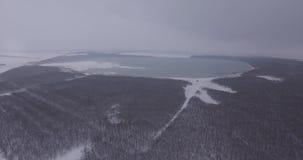 雾的,航拍,一个大框架一个大湖 影视素材