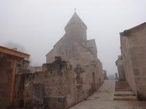 雾的Haghartsin修道院 库存照片