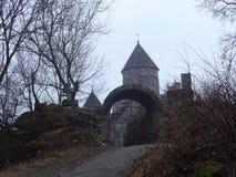 雾的Makaravank修道院 库存照片