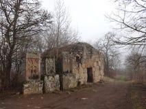 雾的Sevanavank ComplexHaghartsin修道院 免版税库存图片