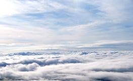 雾,从Phutubberk,泰国的惊人的视图海运  库存照片