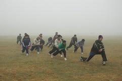 雾kolkata早晨 库存图片