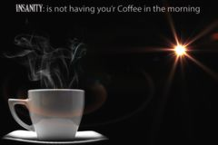 需要我的咖啡 库存图片