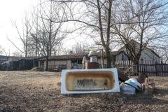 需要的被放弃的家的住所改善 图库摄影