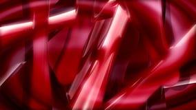 震动红色抽象形状 皇族释放例证