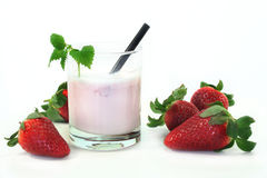 震动草莓 免版税图库摄影