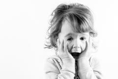 震惊儿童面孔 免版税图库摄影