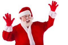 震惊圣诞老人 免版税库存照片