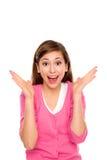 震惊妇女年轻人 免版税库存图片