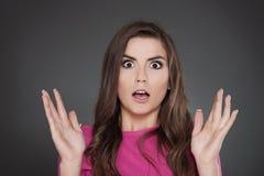 震惊妇女 免版税库存照片
