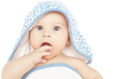 震惊的婴孩好奇惊奇 库存图片