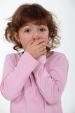 震惊的小女孩 免版税图库摄影