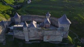 霍京堡垒乌克兰鸟瞰图  股票视频